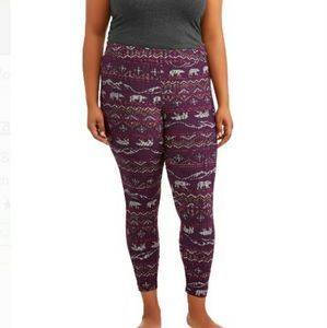 NWT Plus Size Terra&sky 2X 20w-22w Purple Leggings